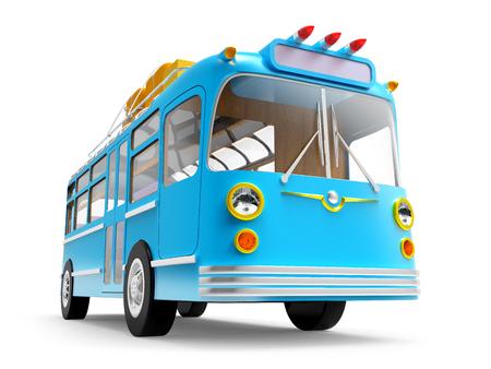 bales: blue bus adventure Stock Photo