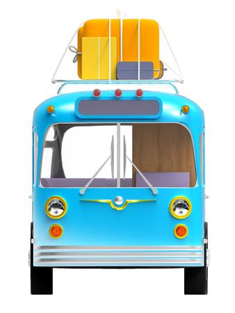 valise: blue bus adventure front