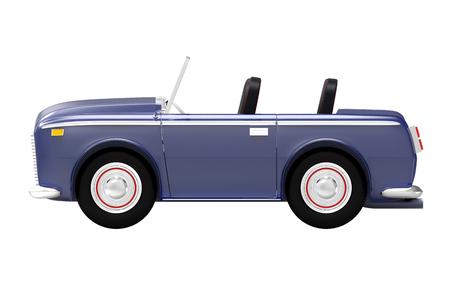 car luxury cabriolet dark blue side