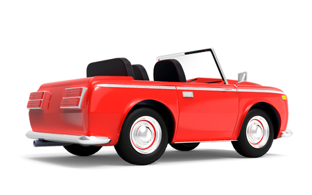 car luxury cabriolet red back Stock Photo