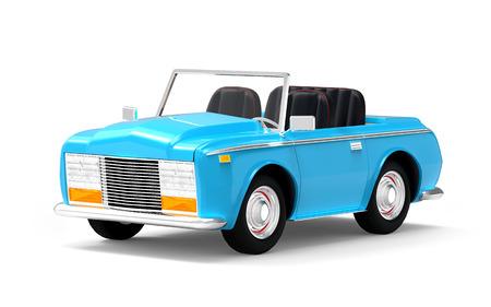 car luxury cabriolet blue