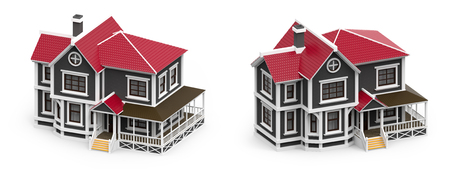 victorian family house isometric