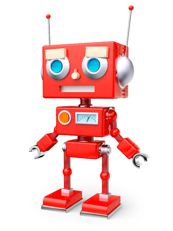 red retro robot