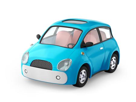 Small cute blue car Stock Photo