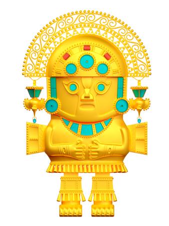 inca culture statuette Stok Fotoğraf - 101488412