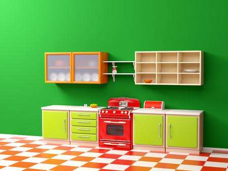 vintage 50s kitchen flat