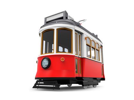 vieux dessin animé de tramway