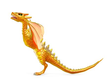 dragon risen 3d side view