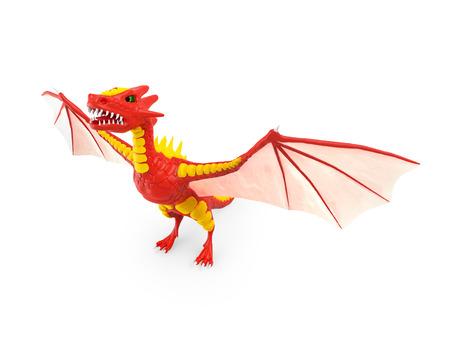 dragon risen 3d Stock Photo