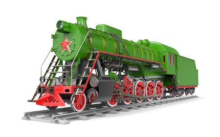 old russian steam train