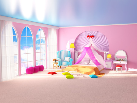 princess room with armchair