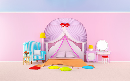princess room with armchair flat