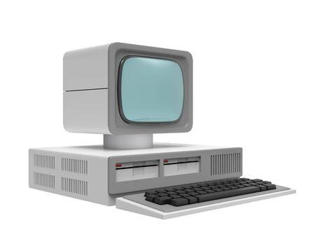vecchio personal computer Archivio Fotografico