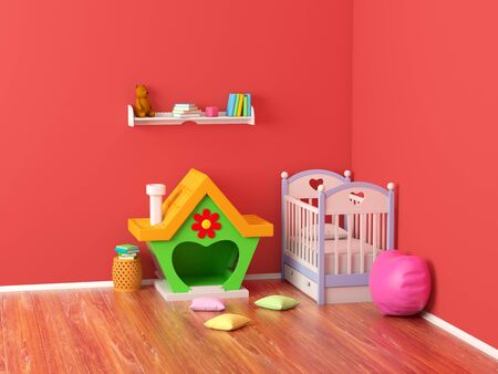 baby room ginger house Banque d'images - 131812993