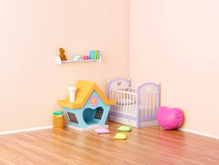 baby room ginger house Banque d'images - 131812640