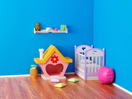 baby room ginger house Banque d'images - 131812688