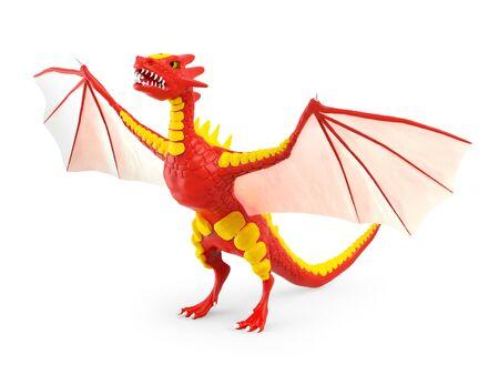 dragon risen 3d Zdjęcie Seryjne - 136916451