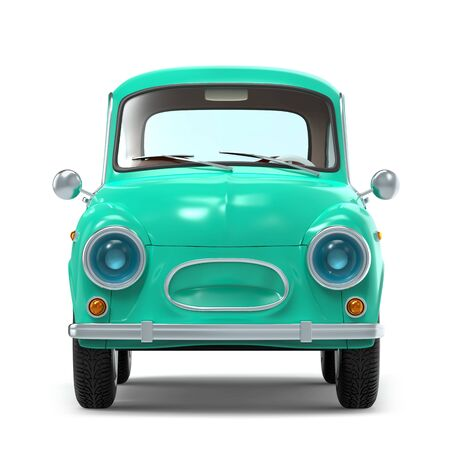 car retro small cartoon bunchy front