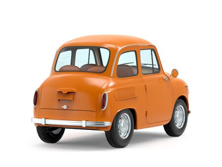 Car retro small cartoon bunchy back