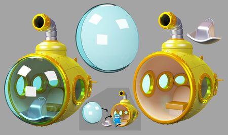 cartoon yellow submarine layers