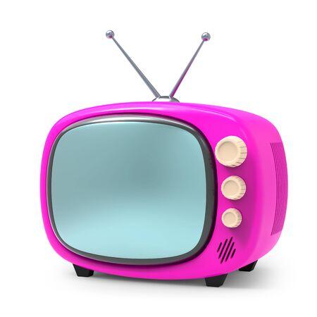 Old tv cartoon on white