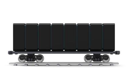 futuristic railroad freight car side Zdjęcie Seryjne