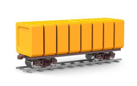 Futuristic railroad freight car isolated on white. 3d illustration.