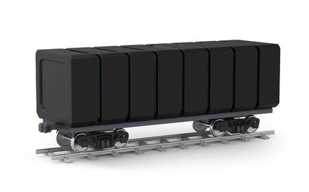 futuristic railroad freight car Zdjęcie Seryjne