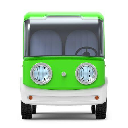 futuristic small delivery truck cartoon front Zdjęcie Seryjne