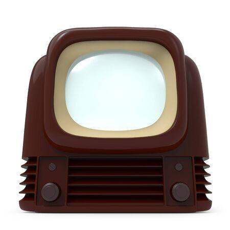 vintage old tv 1950 front