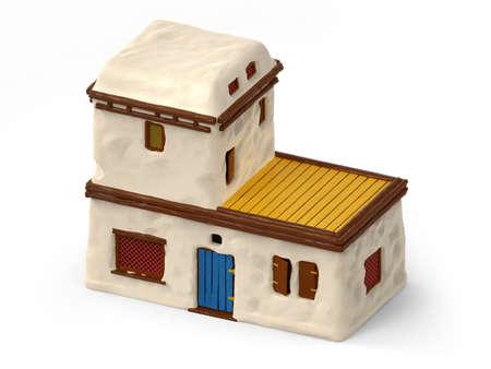 house adobe ancient greece isometric Zdjęcie Seryjne