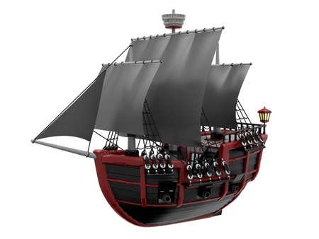 ship wooden ancient cartoon
