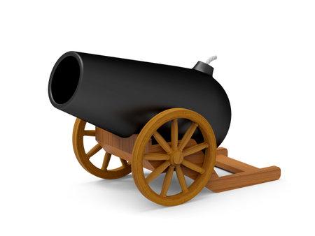 cannon cartoon 3d