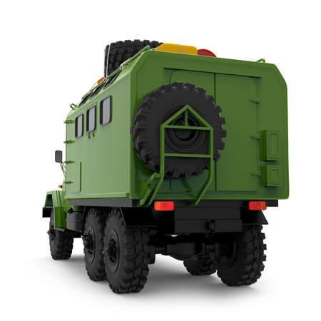 truck off-road military apocalypse back