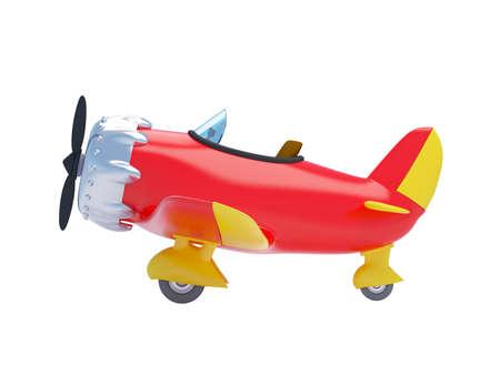 vintage cartoon aircraft side
