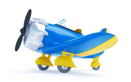 vintage cartoon aircraft