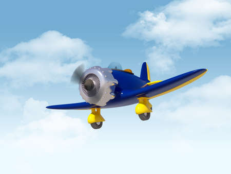vintage aircraft in sky