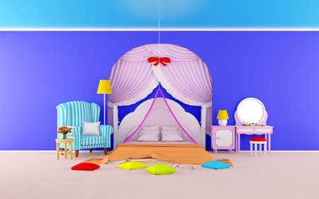 princess room with armchair flat