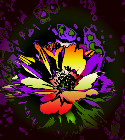The flower of dreams, colorful flower