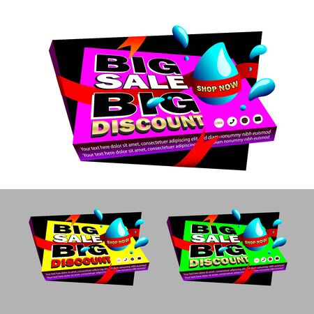 Banner, tag or sticker for your products promotion