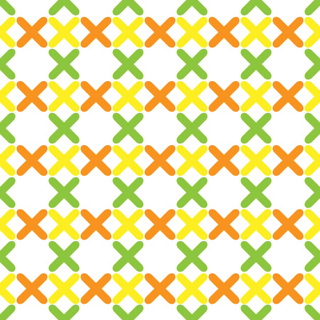orenge: The pattern consisting of colorful crosses