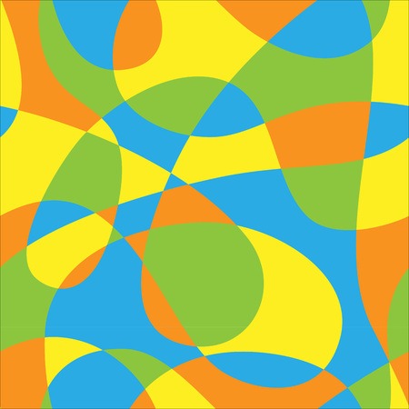 loops: The composition of the color pattern of the loops Illustration