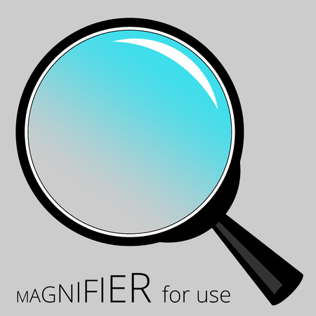 low scale magnification: illustration frame consists of a magnifier for creative use