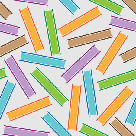 stripes pattern: Seamless pattern of colored stripes books on a white background