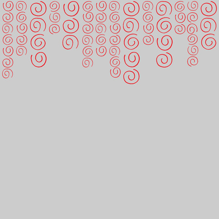 curlicues: Pattern frame with for text red curlicues Illustration