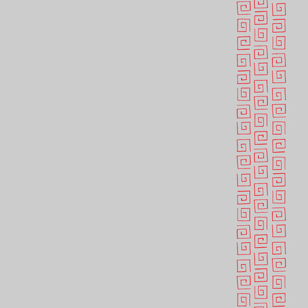 curlicues: Seamless pattern frame for text with red curlicues
