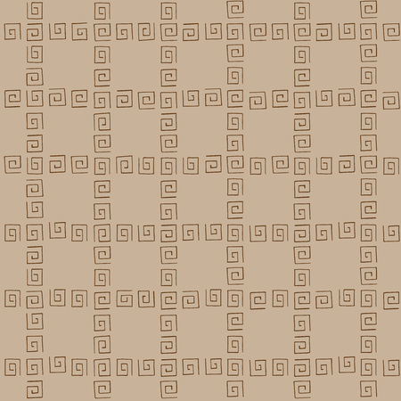 curlicues: Seamless pattern brown curlicues on brown background