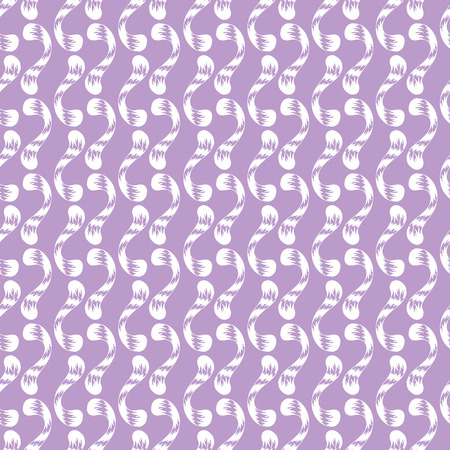 curlicues: Seamless pattern of white whorls curlicues on purple background