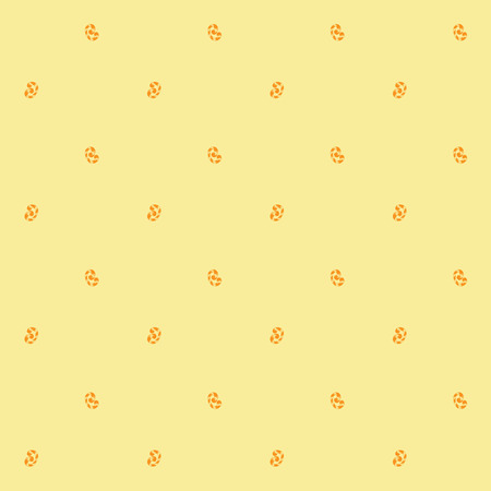 Seamless pattern of orange whorls curlicues on yellow background Illustration