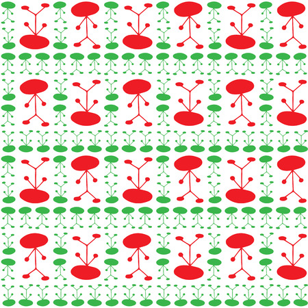 ittle: Seamless pattern of colorful manikin figure ittle man on white background